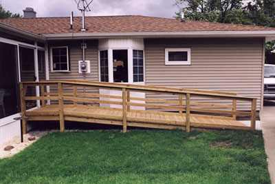 Home with Wheelchair Ramp